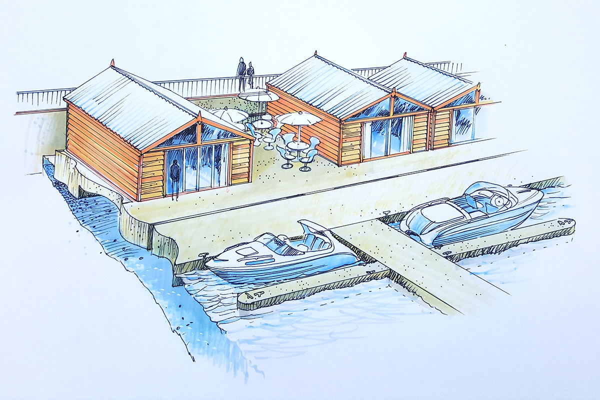 Queenstown Marina - Floating Sheds